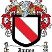 James Coat Of Arms Irish Art Print