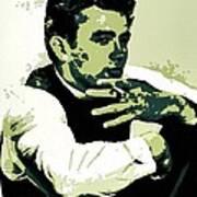 James Dean Poster Art Art Print