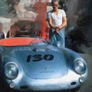 James Dean With His Spyder Art Print