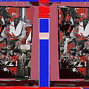 James Earl Jones Smoking Twice Collage The Great White Hope Set Globe Arizona 1969-2012 Art Print