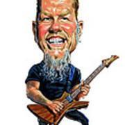 James Hetfield Art Print by Art
