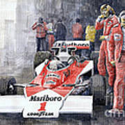 James Hunt Monaco Gp 1977 Mclaren M23 Art Print