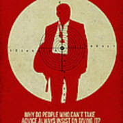 James Poster Red Art Print