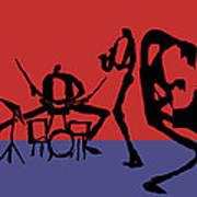 Jammin Jazz Quintet Art Print