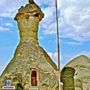 Jandarma Or Police Station In A Fairy Chimney In Cappadocia-turkey  Art Print