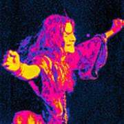 Janis Joplin Psychedelic Fresno 2 Art Print by Joann Vitali