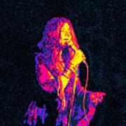 Janis Joplin Psychedelic Fresno  Art Print by Joann Vitali