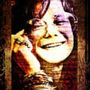 Janis Joplin - Upclose Art Print