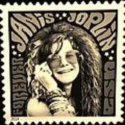 Janis Stamp In A Sepia Vibe Art Print