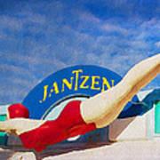 Jantzen Diver Art Print