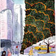 January 3rd At Rockefeller Center Art Print