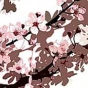 Japanese Blossom Art Print by Sarah OToole