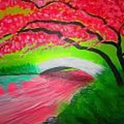 Japanese Blossoms Art Print by Haleema Nuredeen