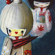 Japanese Dolls Art Print
