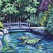 Japanese Garden Bridge San Francisco California Art Print