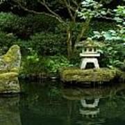Japanese Garden Calmness Art Print