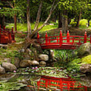 Japanese Garden - Meditation Art Print by Mike Savad