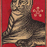 Japanese Matchbox Label With Tiger Art Print by Nop Briex