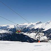Jatz Jakobshorn Davos Mountains Piste Art Print