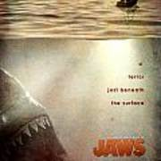 Jaws Custom Poster Art Print by Jeff Bell
