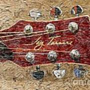 Jay Turser Guitar Head - Red Guitar - Digital Painting Art Print by Barbara Griffin
