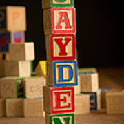 Jayden - Alphabet Blocks Art Print