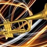 Jazz Art Trumpet Art Print