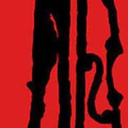 Jazz Bass In Red Art Print