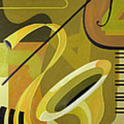 Jazz Art Print by Carolyn Hubbard-Ford