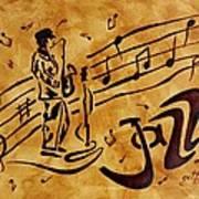 Jazz Coffee Painting Art Print