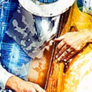 Jazzman At His Craft Art Print