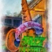 Jazz Kitchen Signage Downtown Disneyland Photo Art 01 Art Print