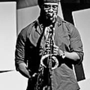 Jazz Musician Art Print by Achmad Bachtiar