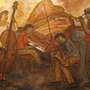Jazz Quartet Art Print by Anita Burgermeister