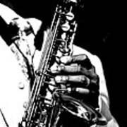 Jazz Saxophonist Art Print