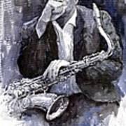 Jazz Saxophonist John Coltrane black Art Print