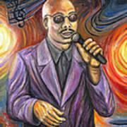 Jazz Singer Art Print