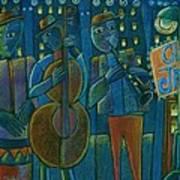 Jazz Time At Club Jazz Art Print