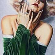 Jean Harlow  @ Ariesartist.com Art Print