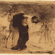 Jean-louis Forain, Christ Stripped Of His Clothes Art Print