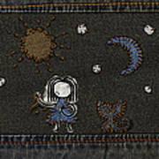 Jeans Stitches Art Print