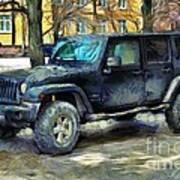 Jeep Wrangler Art Print