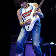 Jeff Beck On Guitar 1 Print by Jennifer Rondinelli Reilly - Fine Art Photography