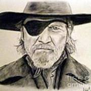 Jeff Bridges As U.s. Marshal Rooster Cogburn Art Print