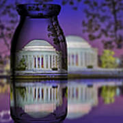 Jefferson Memorial In A Bottle Art Print by Susan Candelario