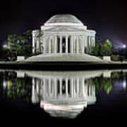 Jefferson Memorial - Night Reflection Art Print
