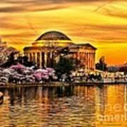 Jefferson Memorial Sunset Art Print