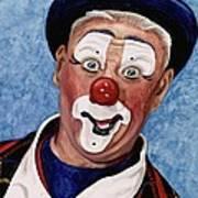 Watercolor Clown #11 Jeffrey Potts  Art Print