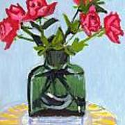 Jeff's Vase And Rodger's Roses Art Print