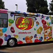 Jelly Belly On Wheels Art Print
